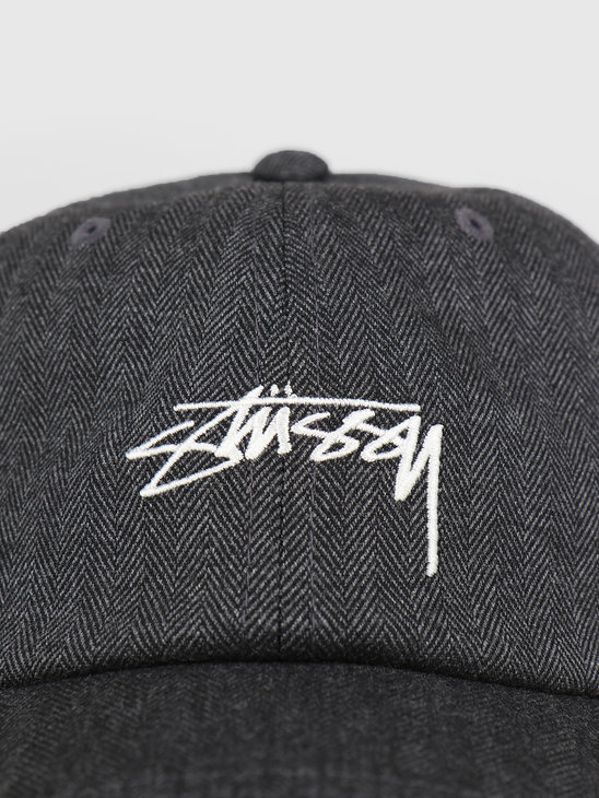 Stussy Stock Herringbone Low Pro Cap Grey 0008