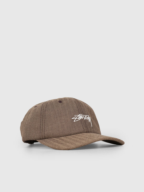 Stussy Stock Herringbone Low Pro Cap Brown 1001