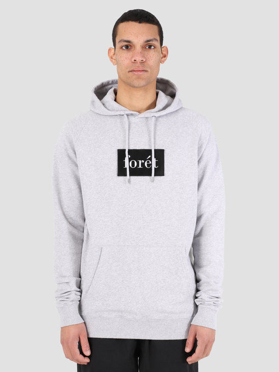 Foret Stream Hoodie Light Grey Melange Black F100