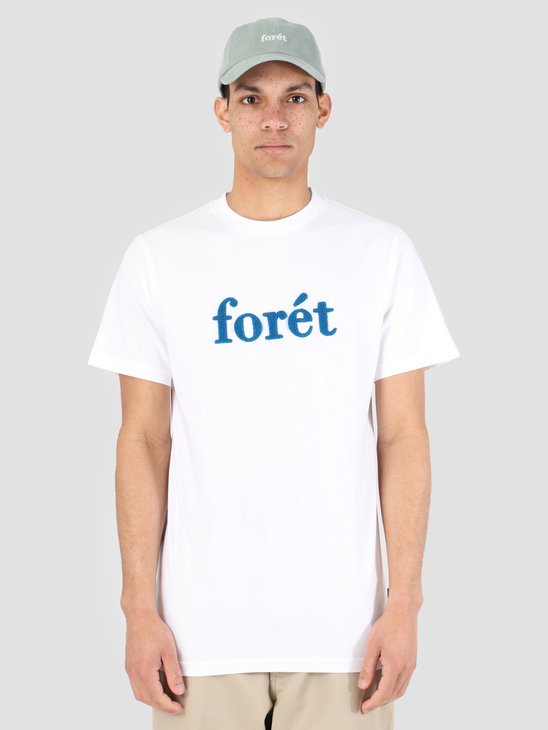 Foret Log T-Shirt White Blue F051