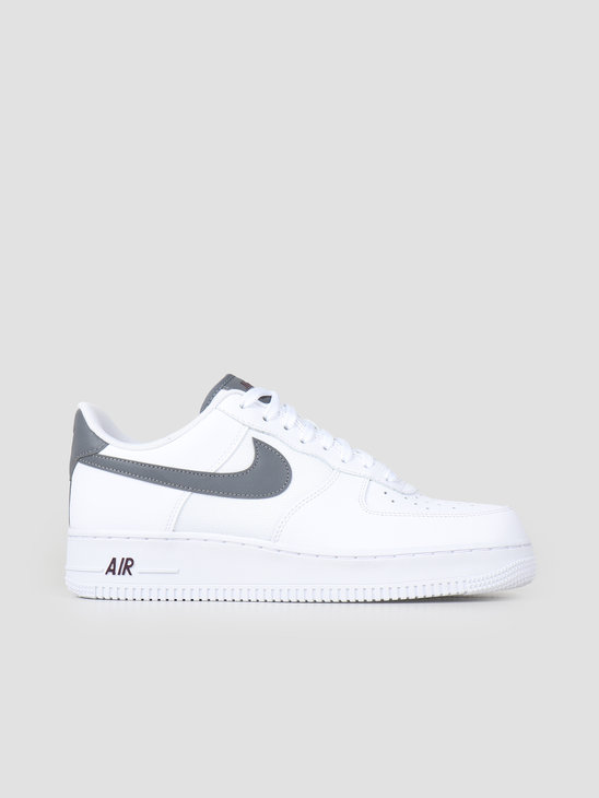 Nike Air Force 1 '07 Lv8 White Cool Grey-Night Maroon Bv1278-100