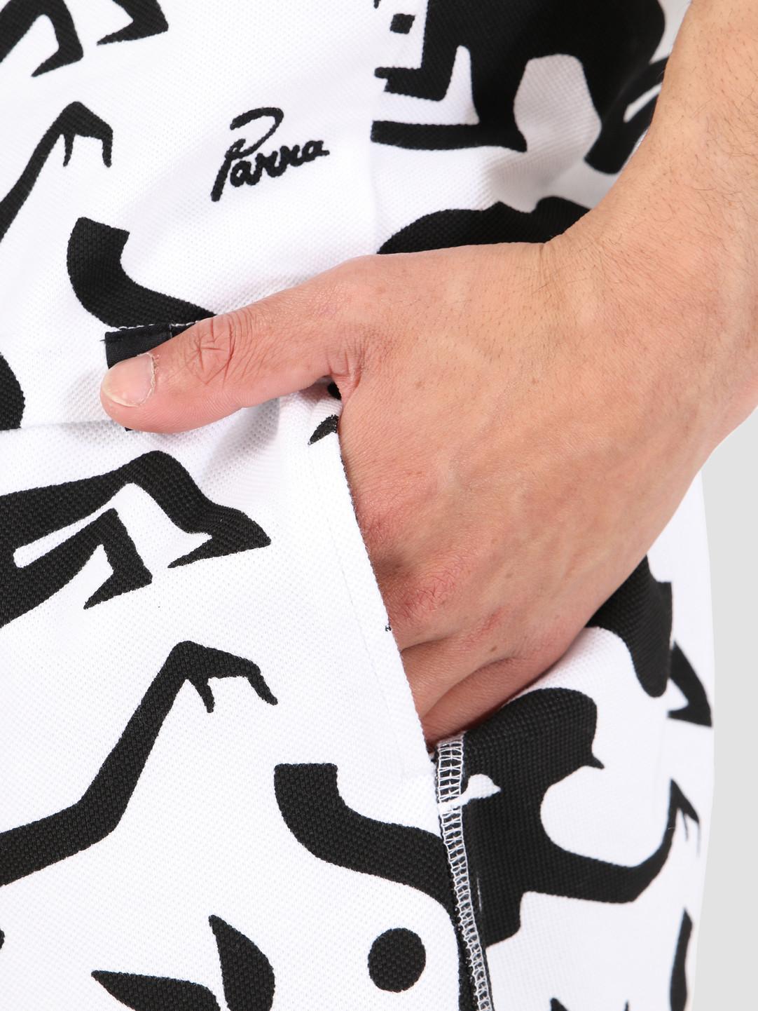 By Parra By Parra Piqué Shorts Workout Woman Hor White 42440