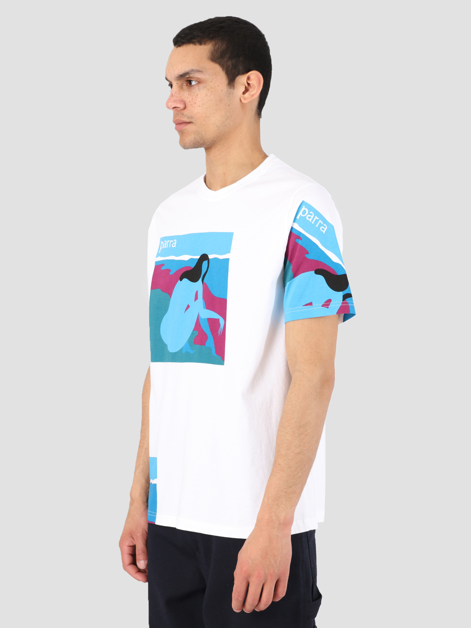 By Parra By Parra T-Shirt No Beach White 42370