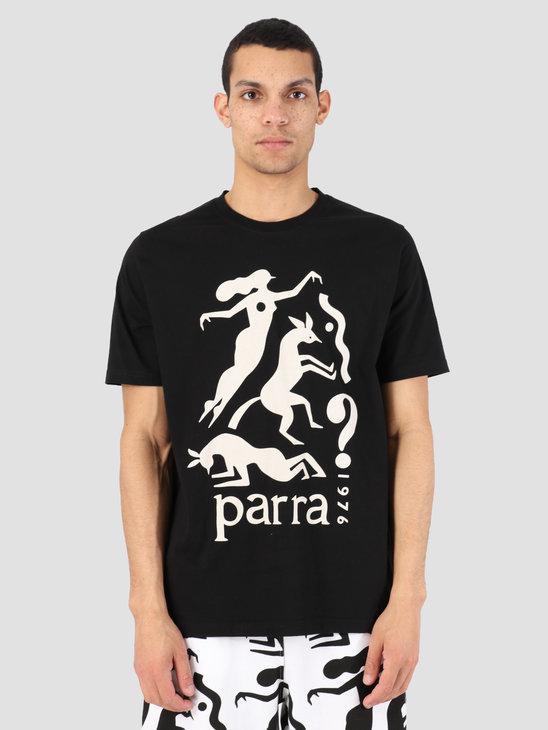 By Parra T-Shirt Workout Woman Horse Black 42380