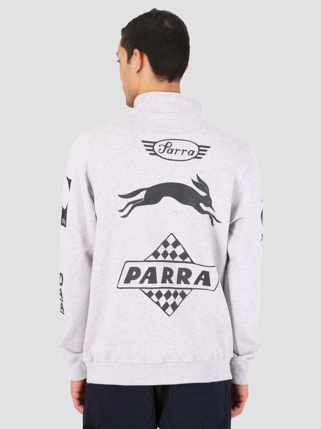 By Parra By Parra Quarter Zip Sweater Sponsored Ash Gray 42410