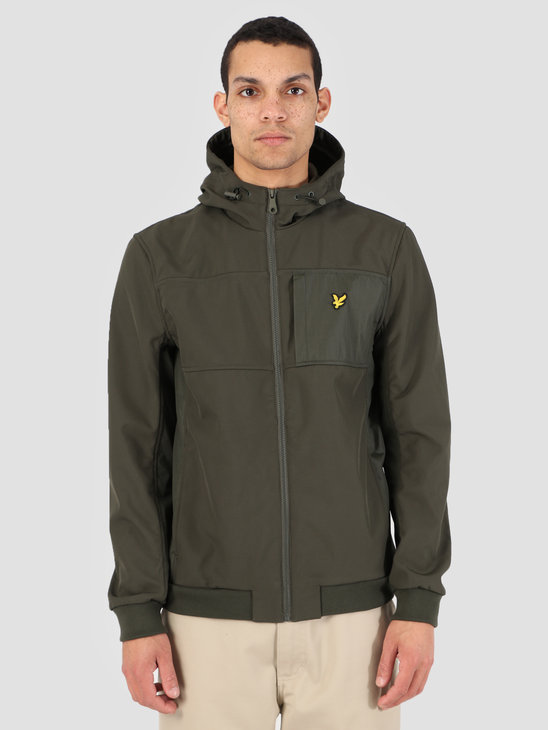 Lyle and Scott Softshell Jacket 028 Dark Sage JK1007V