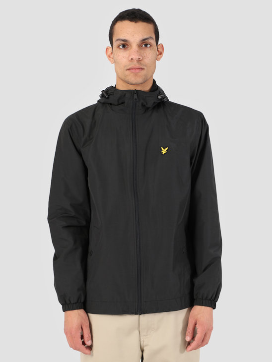 Lyle and Scott Zip Through Hooded Jacket 572 True Black JK464V