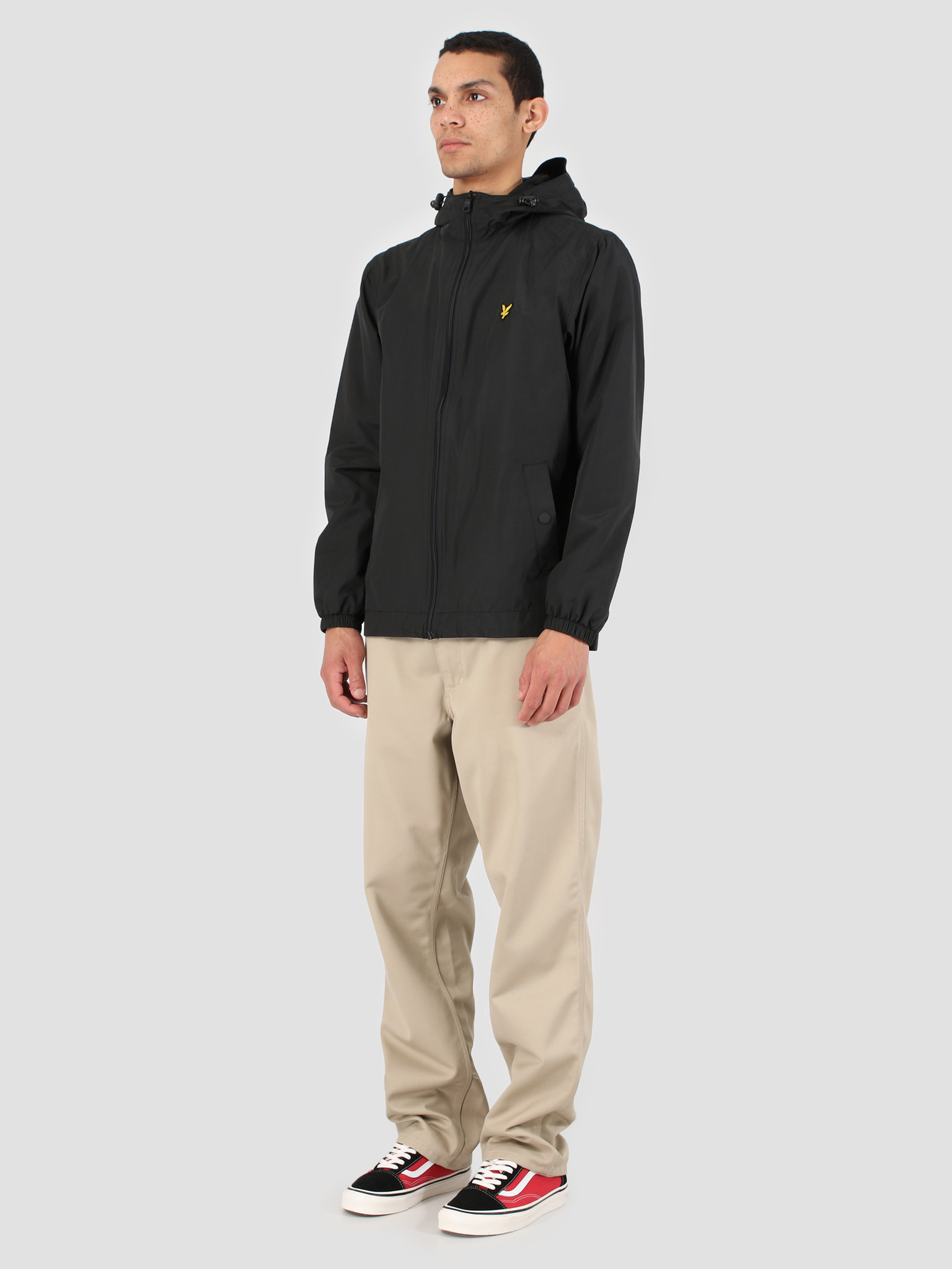 Lyle and Scott Lyle and Scott Zip Through Hooded Jacket 572 True Black JK464V