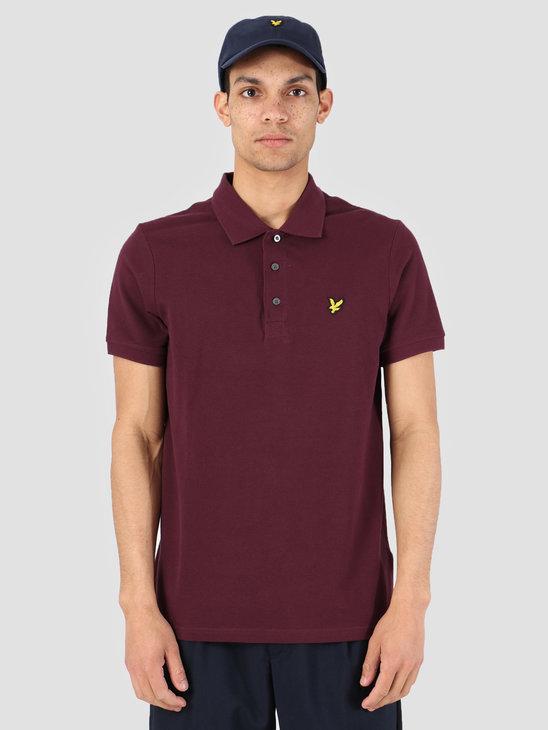 Lyle and Scott Polo Shirt 865 Burgundy SP400VB
