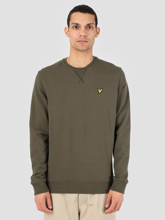 Lyle and Scott Crew Neck Sweatshirt 028 Dark Sage ML424VTR
