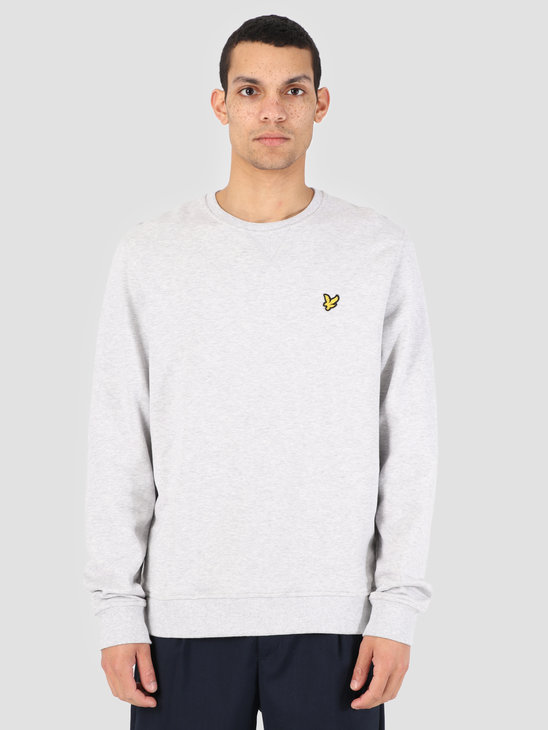 Lyle and Scott Crew Neck Sweatshirt D24 Light Grey Marl ML424VTR