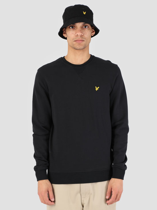 Lyle and Scott Crew Neck Sweatshirt True Black ML424VB