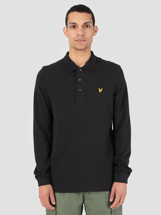 Lyle and Scott Longsleeve Polo True Black LP400VB
