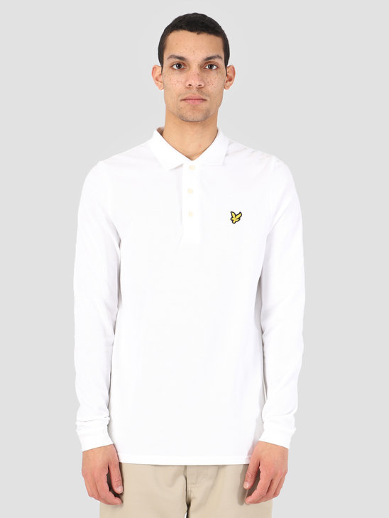 Lyle and Scott Longsleeve Polo White LP400VB