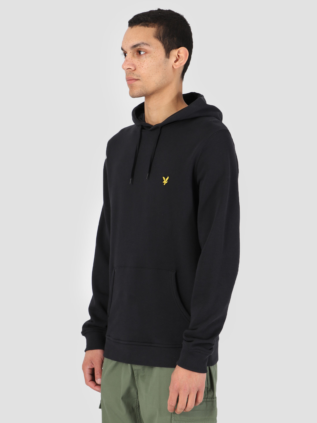 Lyle and Scott Lyle and Scott Pullover Hoodie 572 True Black ML416VTR