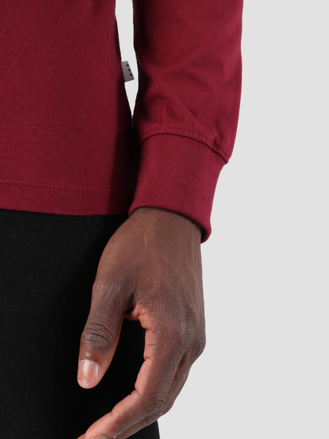 Quality Blanks Quality Blanks QB05 Patch Logo Longsleeve Burgundy Red