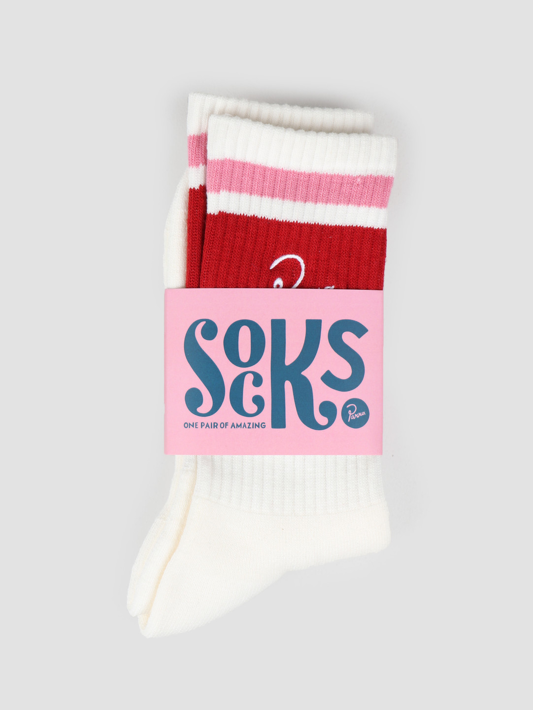 By Parra By Parra Crew Socks White 42490