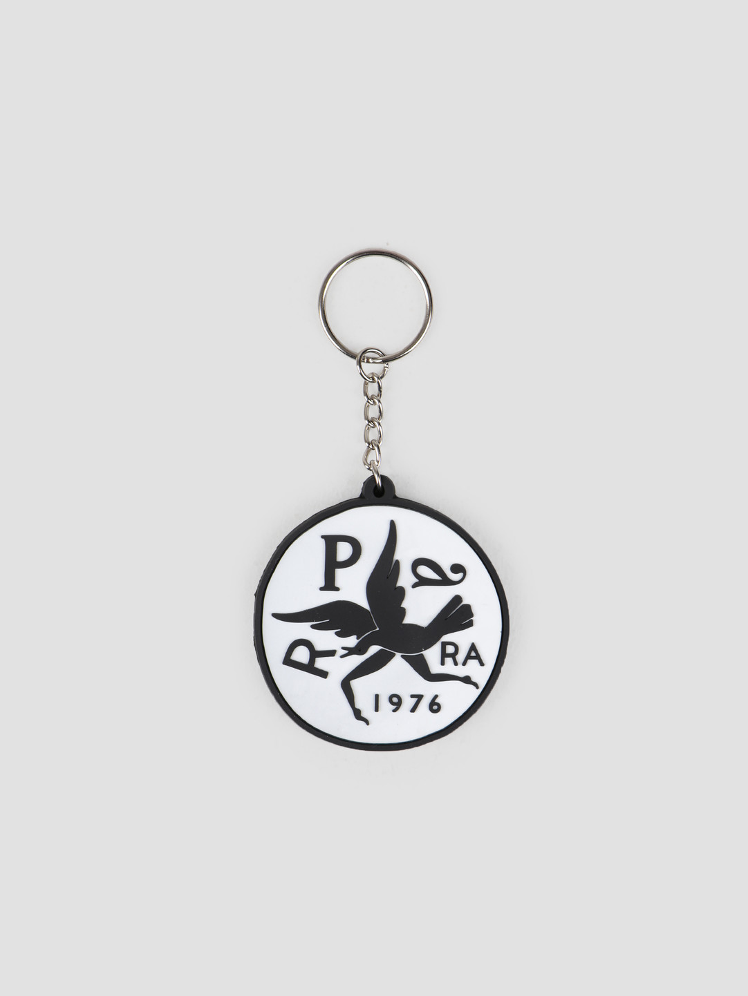 By Parra By Parra Key Chain Upside Down Bird White 42480
