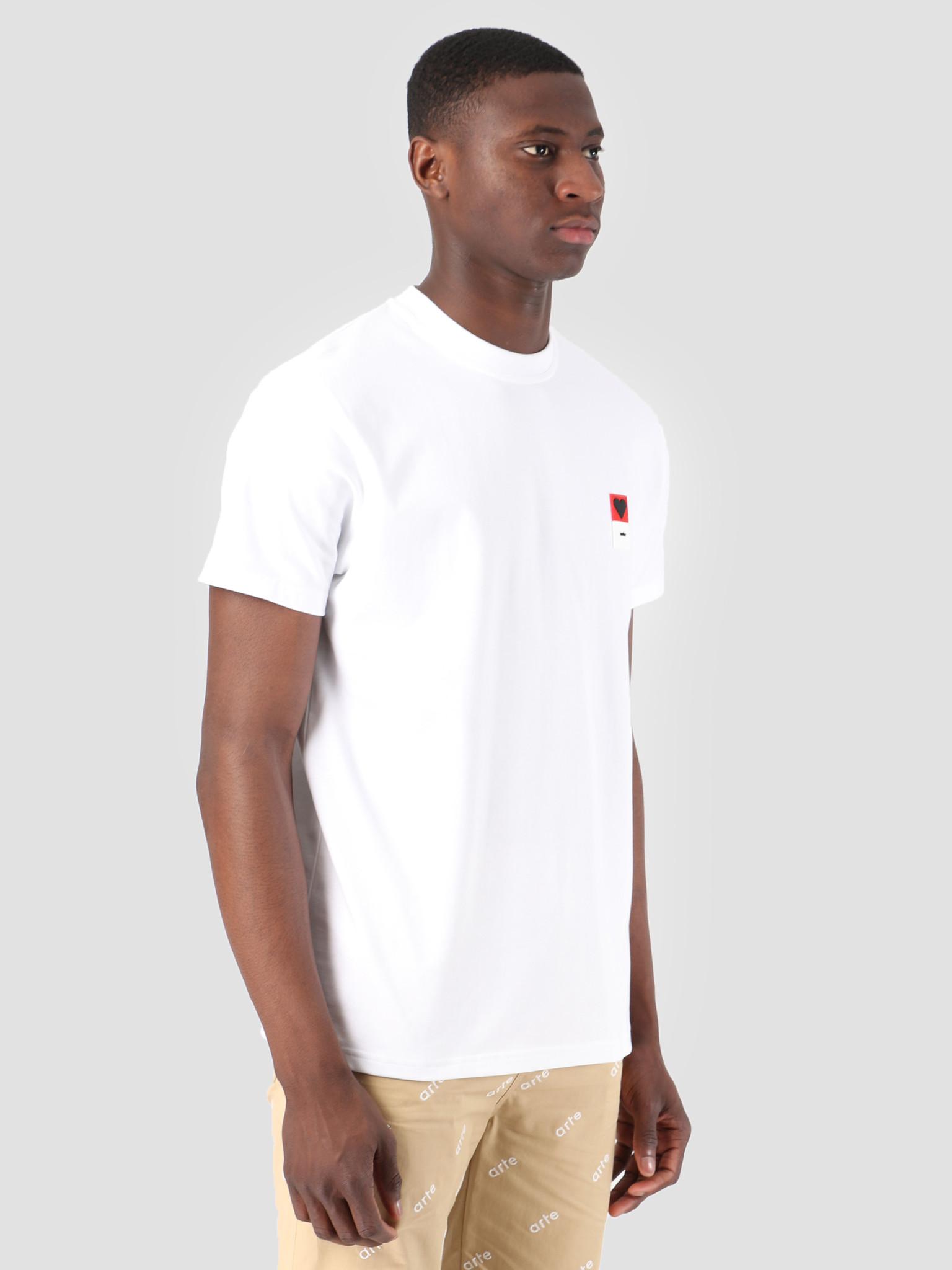 Arte Antwerp Arte Antwerp Troy Heart Patch White T-Shirt 3757093