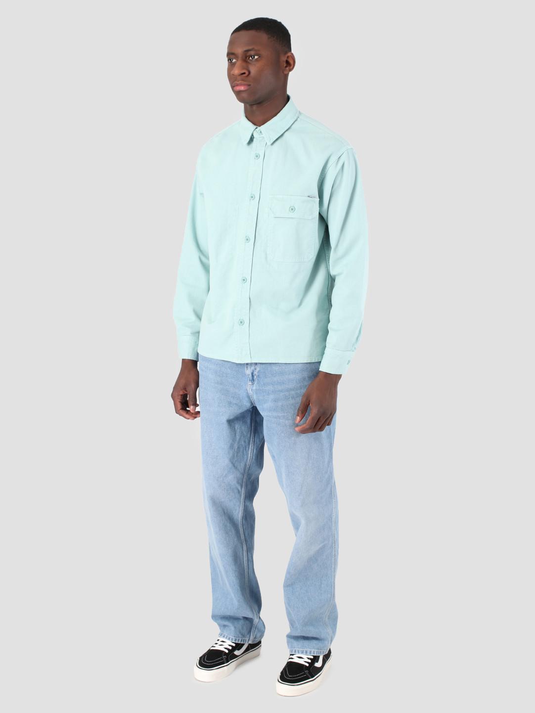 Carhartt WIP Carhartt WIP Longsleeve Reno Shirt Soft Aloe I026532