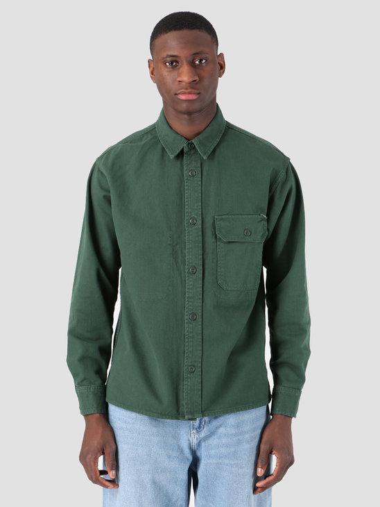Carhartt WIP Longsleeve Reno Shirt Bottle Green I026532