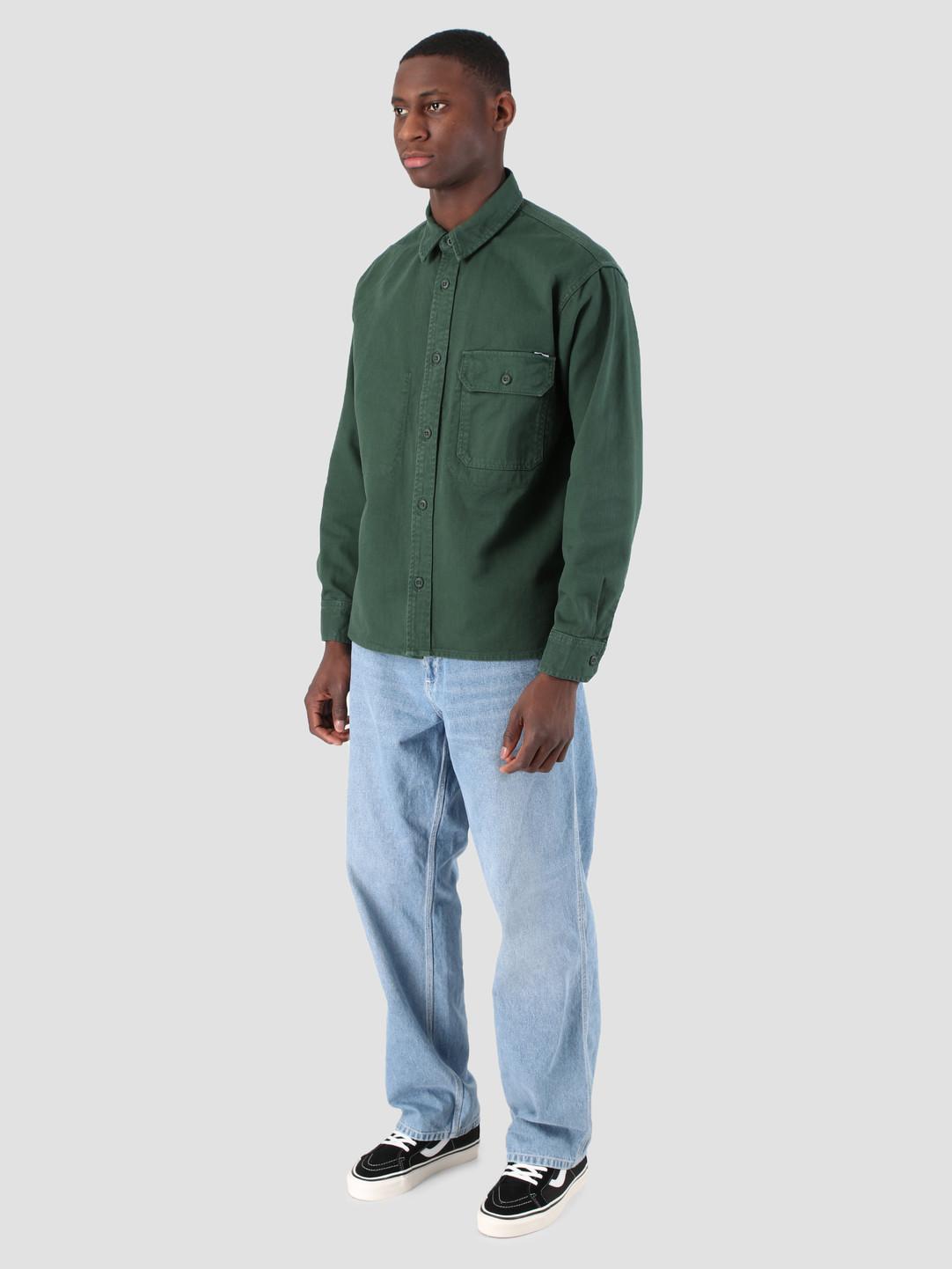 Carhartt WIP Carhartt WIP Longsleeve Reno Shirt Bottle Green I026532