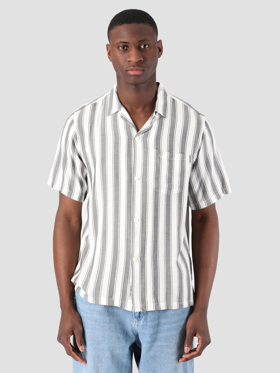 Carhartt WIP Short Sleeve Esper Shirt Esper Stripe Black Wax I026296