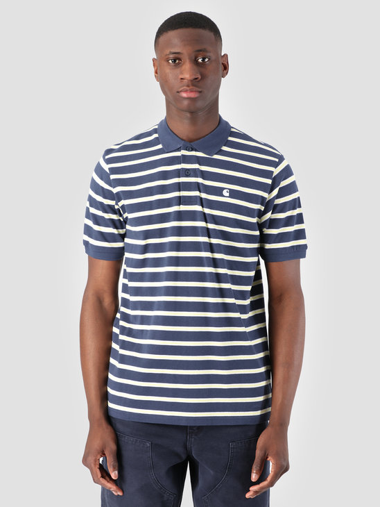 Carhartt WIP Houston Polo Houston Stripe Blue I026245
