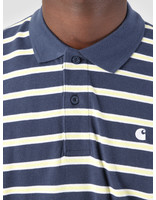 Carhartt WIP Carhartt WIP Houston Polo Houston Stripe Blue I026245