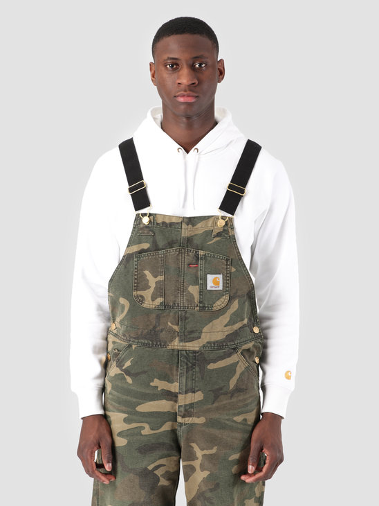 Carhartt WIP Bib Overall Aged Canvas Camo Laurel I026462