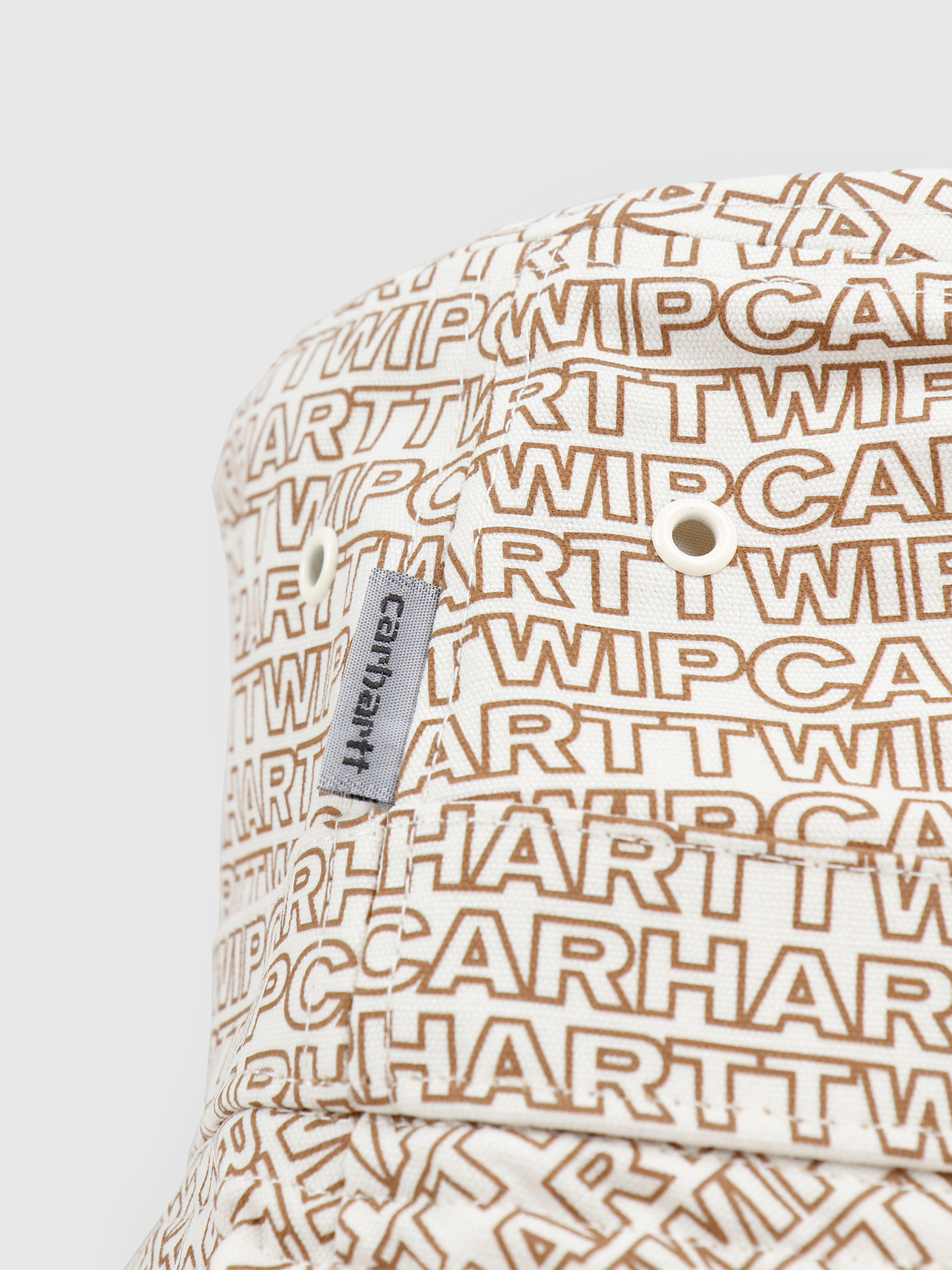 Carhartt WIP Carhartt WIP Typo Bucket Hat Typo Print Wax Hamilton Brown 65050030