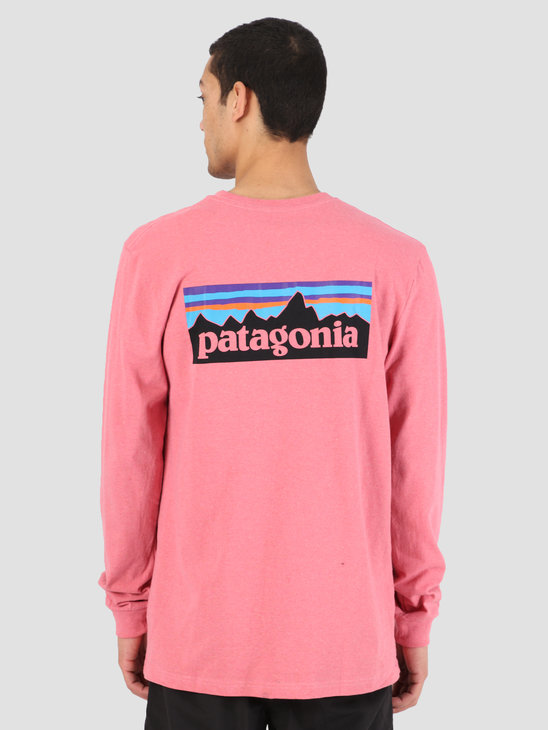 Patagonia Longsleeve P 6 Logo Responsibili T-Shirt Sticker Pink 39161