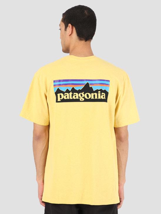 Patagonia P 6 Logo Responsibili T-Shirt Surfboard Yellow 39174