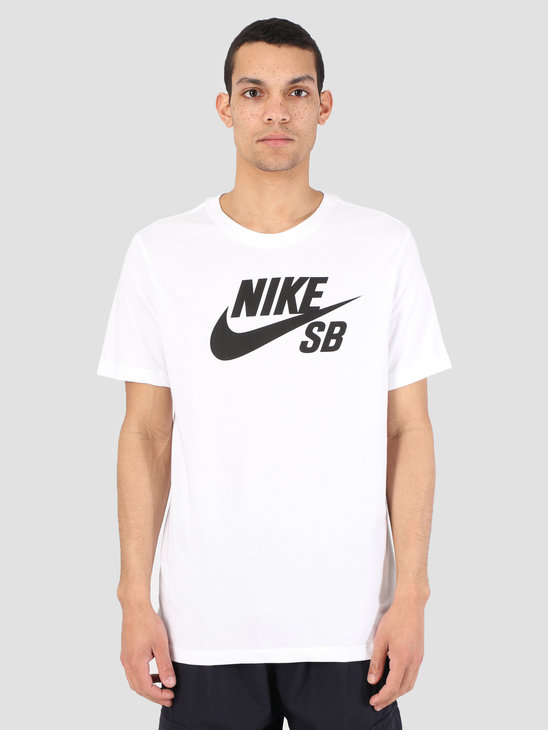 Nike SB T-Shirt Dri-Fit White Black Ar4209-100