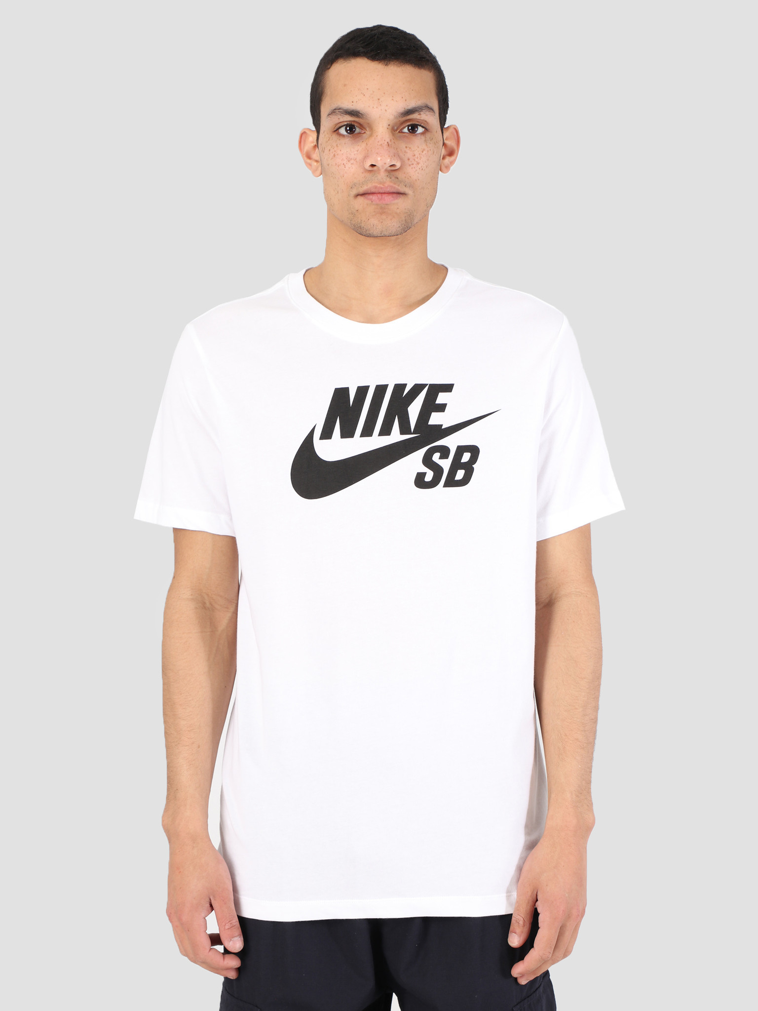 new style 36b34 c863a Nike Nike SB T-Shirt Dri-Fit White Black Ar4209-100