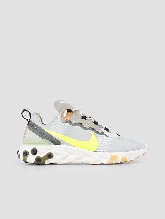 Nike React Element 55 Spruce Aura Volt Spruce Fog Barely Volt BQ6166-009