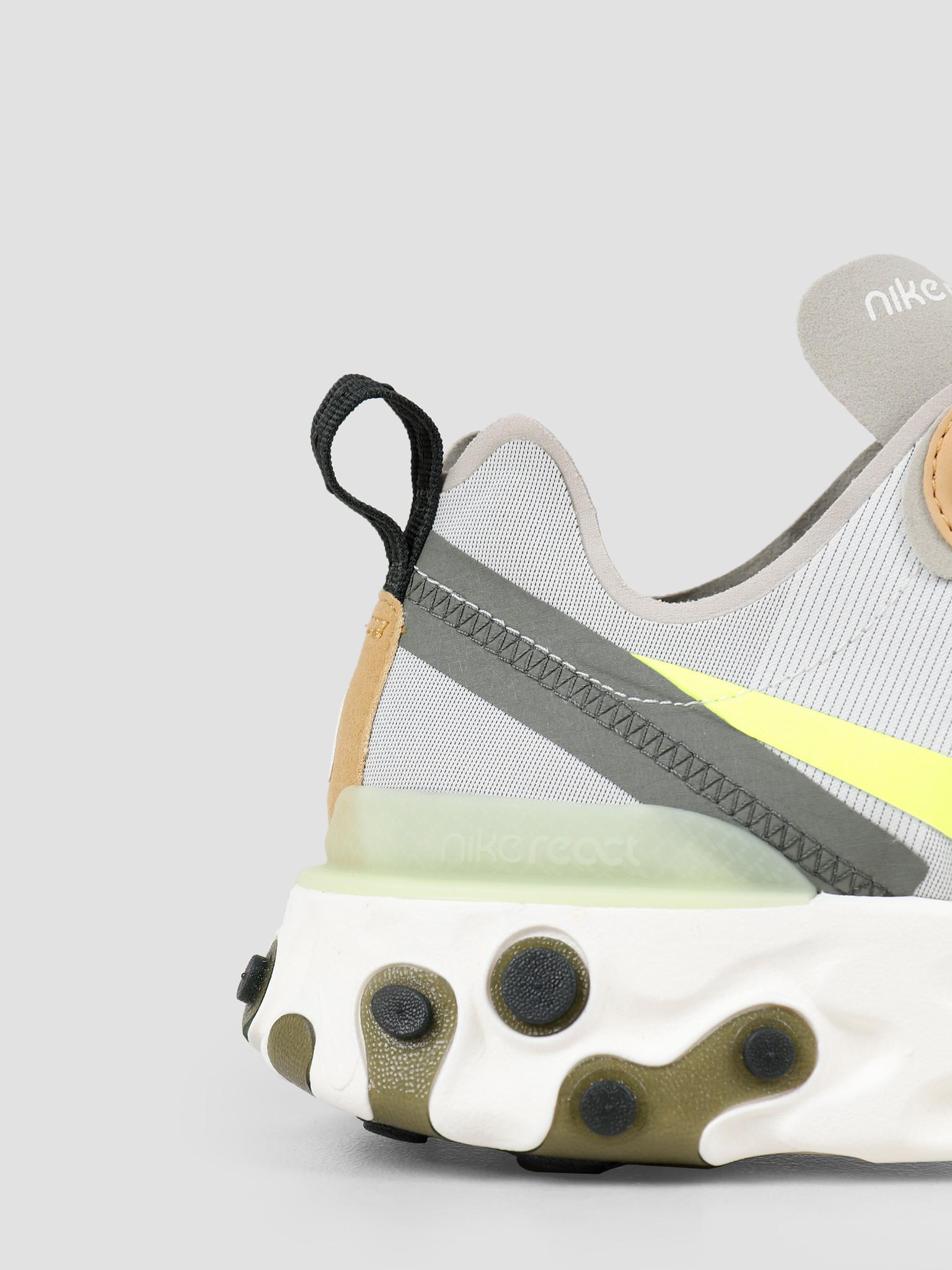 Nike Nike React Element 55 Spruce Aura Volt Spruce Fog Barely Volt BQ6166-009
