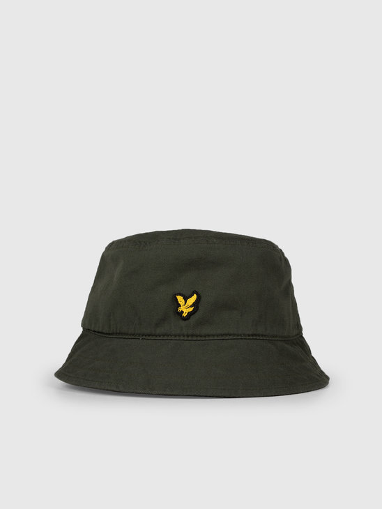 Lyle and Scott Cotton Twill Bucket Hat Z262 Leaf Green HE800A