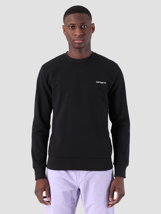 Carhartt WIP Script Embroidery Sweat Black White 61102099