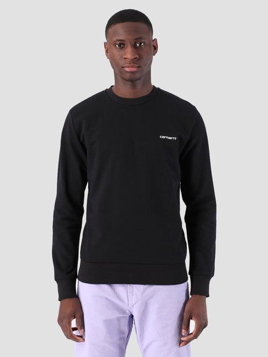 Carhartt WIP Script Embroidery Sweat Black White 61102099