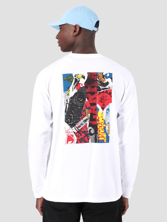 02930ab6 Carhartt WIP Long Sleeve Patchwork Shirt White 61091000 ...