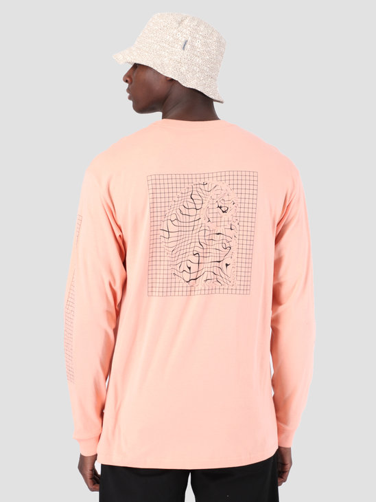 Carhartt WIP Long Sleeve Grid C Shirt Peach Black 61091000
