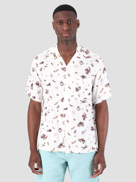 Carhartt WIP Short Sleeve Club Pacific Shirt Club Pacific Print Wax 62053000