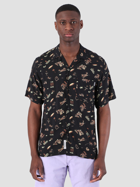Carhartt WIP Short Sleeve Club Pacific Shirt Club Pacific Print Black 62053000