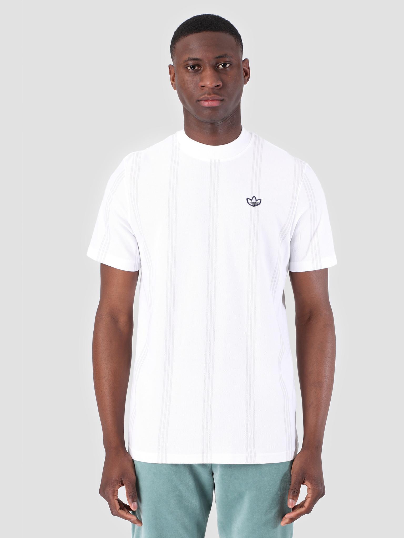 adidas adidas Stand Collar T-Shirt White DU7848