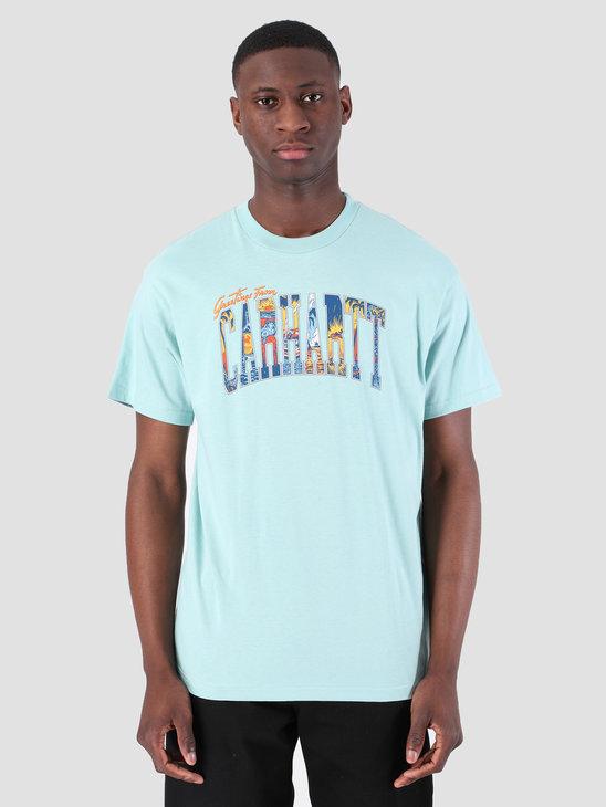 Carhartt WIP Short Sleeve Greetings From T-Shirt Soft Aloe 61091000