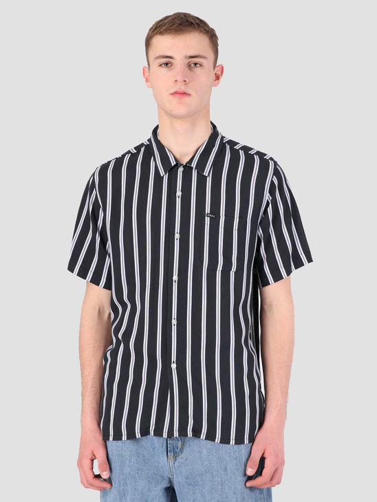 Obey Market Stripe Woven T-Shirt BKM 181210236