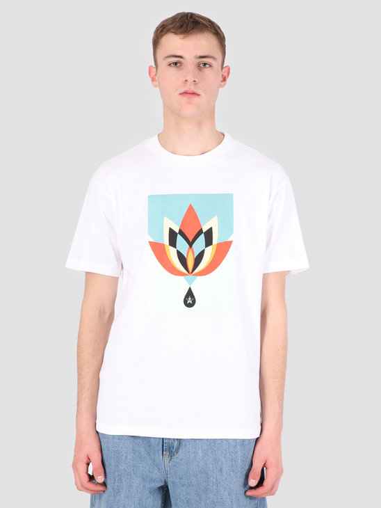 Obey Obey Geometric Flower T-Shirt WHT 167291936