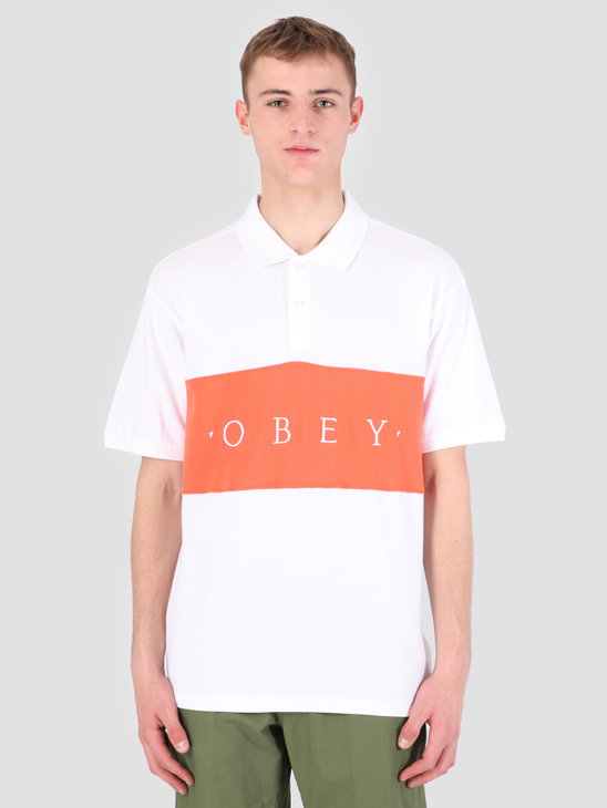 Obey Astro Claic Polo WHT 131090043