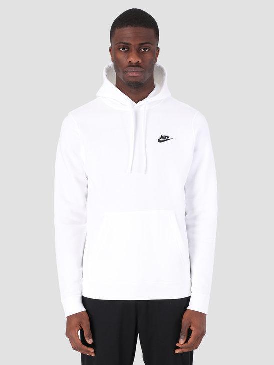 Nike NSW Hoodie White White Black 804346-100